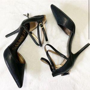 Sam & Libby Shiny Black Stilettos
